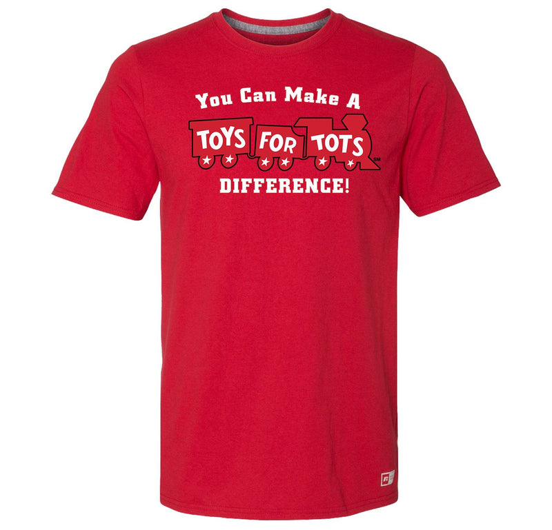 Russell Athletic Make A Difference TFT Train T-Shirt TFT Shirt marinecorpsdirecttft S RED