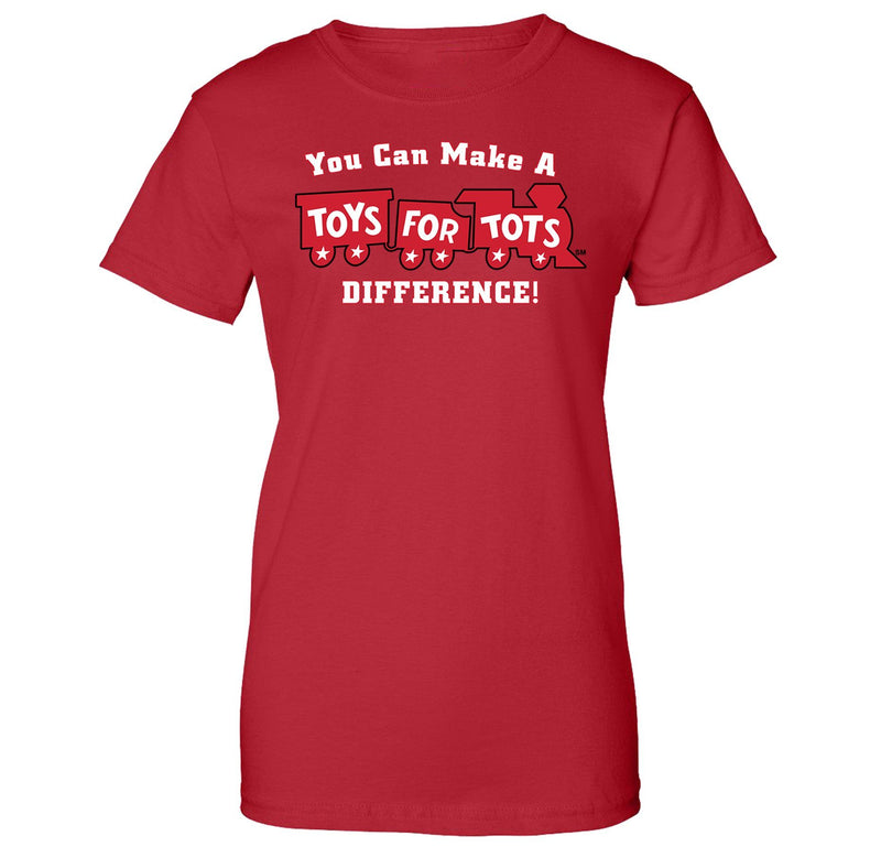 Make a Difference TFT Train Women's T-Shirt TFT Shirt marinecorpsdirecttft S RED