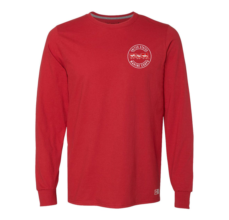 Russell Athletic Circle TFT Train Long Sleeve TFT Shirt marinecorpsdirecttft S RED