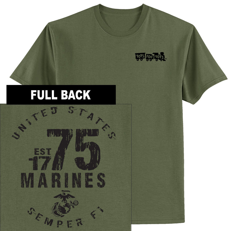 """Pick Your Design"" TFT Front & Back T-Shirt TFT Shirt Marine Corps Direct PAIN IS WEAKNESS LEAVING MILITARY GREEN 2XL"