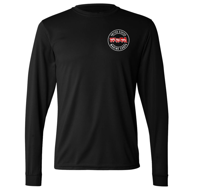 Augusta Dri-Fit Performance Circle TFT Chest Seal Long Sleeve TFT Shirt Marine Corps Direct S BLACK