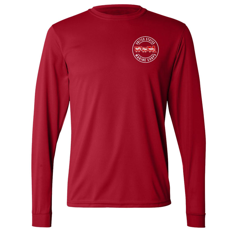 Augusta Dri-Fit Performance Circle TFT Chest Seal Long Sleeve TFT Shirt Marine Corps Direct S RED