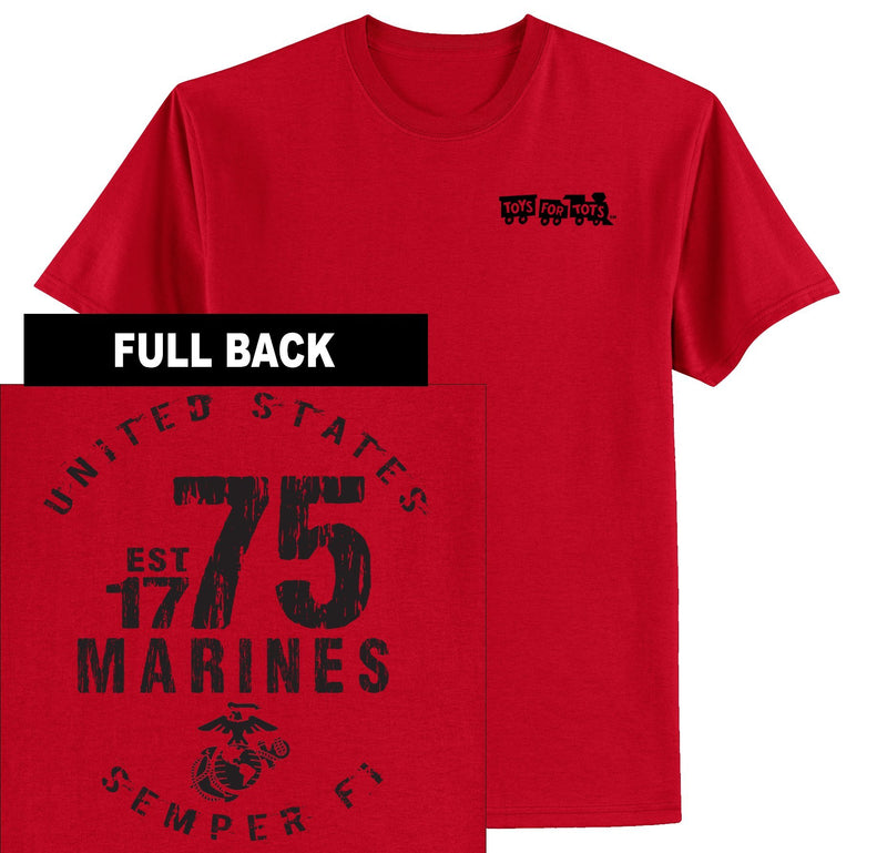 """Pick Your Design"" TFT Front & Back T-Shirt TFT Shirt Marine Corps Direct MARINES EST. 1775 RED S"