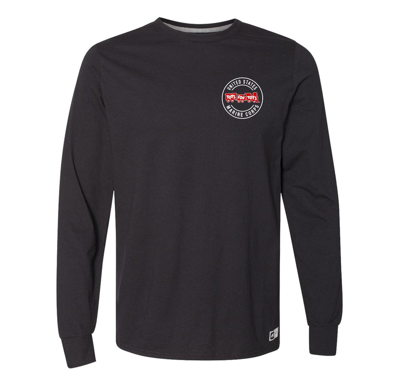 Russell Athletic Circle TFT Train Long Sleeve TFT Shirt marinecorpsdirecttft S BLACK