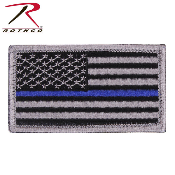 Thin Blue Line Flag Patch PATCH marinecorpsdirecttft