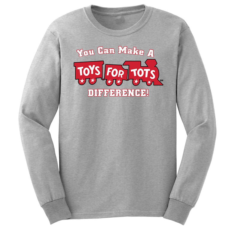 Make a Difference TFT Train Kids Long Sleeve TFT Shirt marinecorpsdirecttft S SPORT GRAY