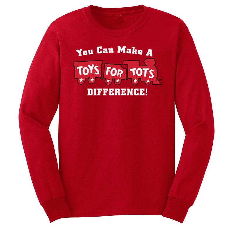 Make a Difference TFT Train Kids Long Sleeve TFT Shirt marinecorpsdirecttft S RED