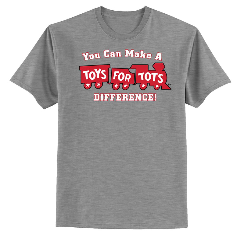Make a Difference TFT Train Kids T-Shirt TFT Shirt marinecorpsdirecttft S SPORT GRAY