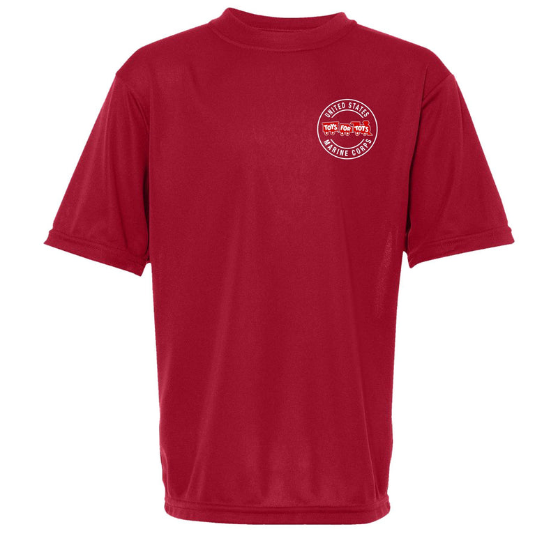 Augusta Dri-Fit Performance Circle TFT Chest Seal Kid's T-Shirt TFT Shirt Marine Corps Direct S RED