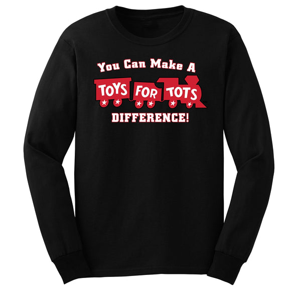 Make a Difference TFT Train Kids Long Sleeve TFT Shirt marinecorpsdirecttft S BLACK