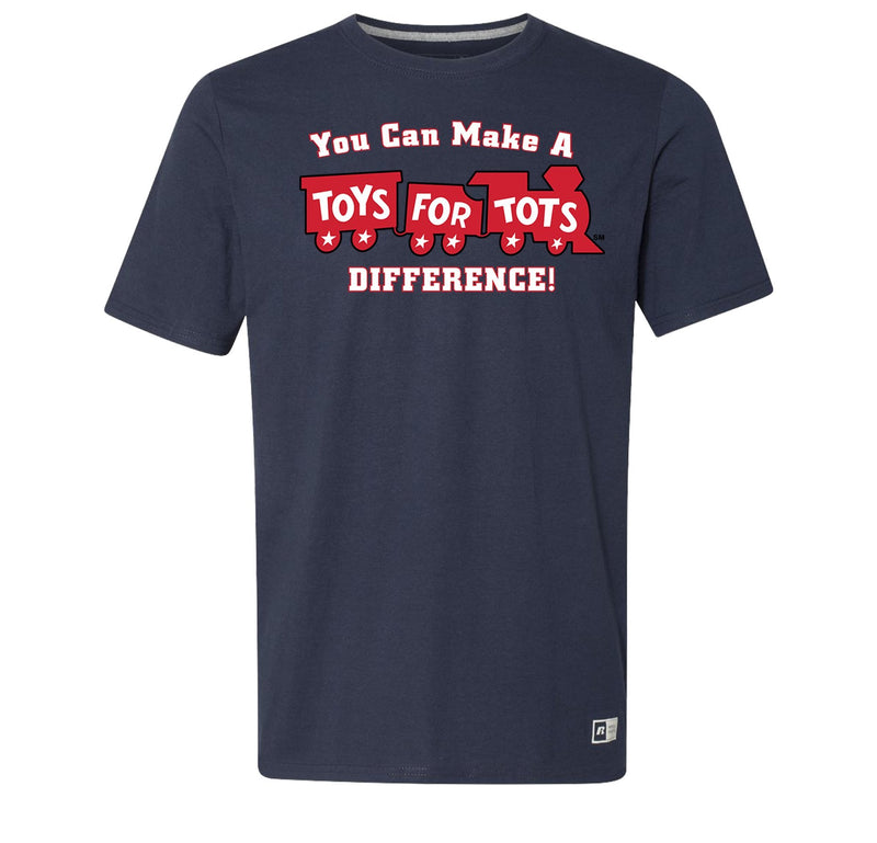 Russell Athletic Make A Difference TFT Train T-Shirt TFT Shirt marinecorpsdirecttft S NAVY