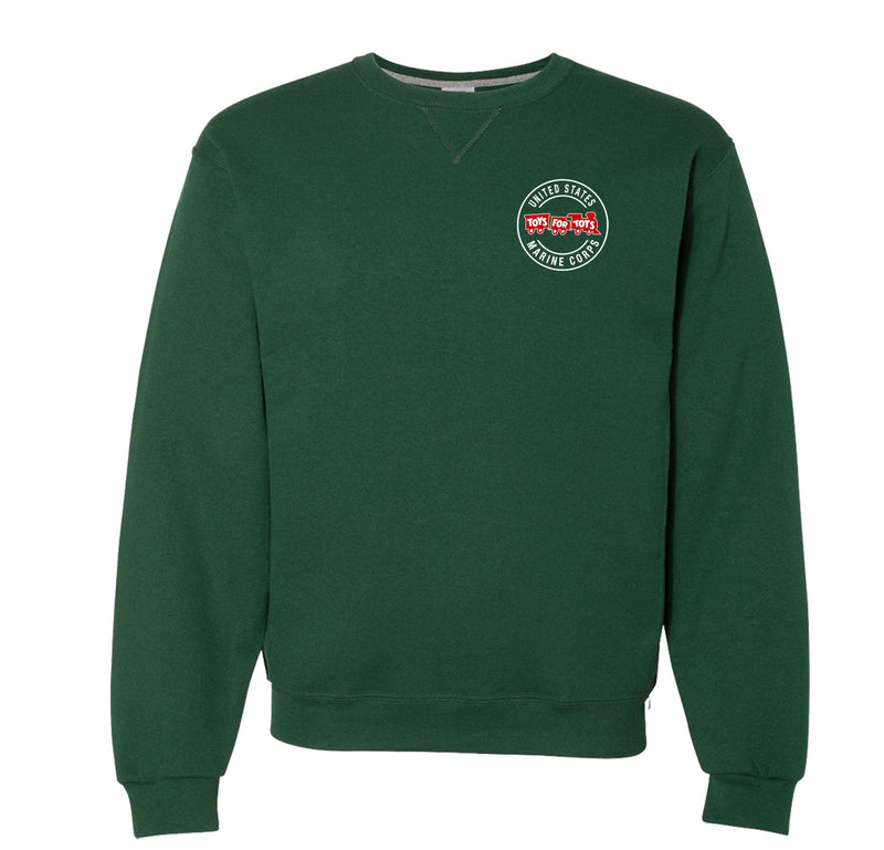 Russell Athletic Circle TFT Train Dri Power® Crewneck Sweatshirt TFT Sweatshirt/hoodie marinecorpsdirecttft S DARK GREEN