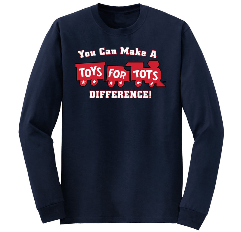 Make a Difference TFT Train Kids Long Sleeve TFT Shirt marinecorpsdirecttft S NAVY