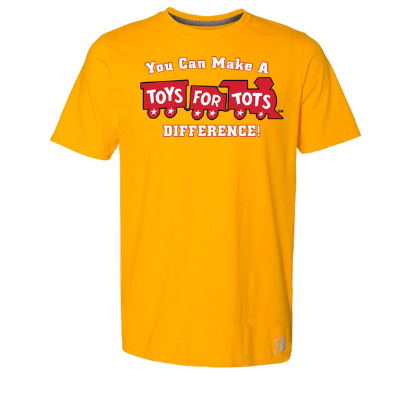 Russell Athletic Make A Difference TFT Train T-Shirt TFT Shirt marinecorpsdirecttft S GOLD