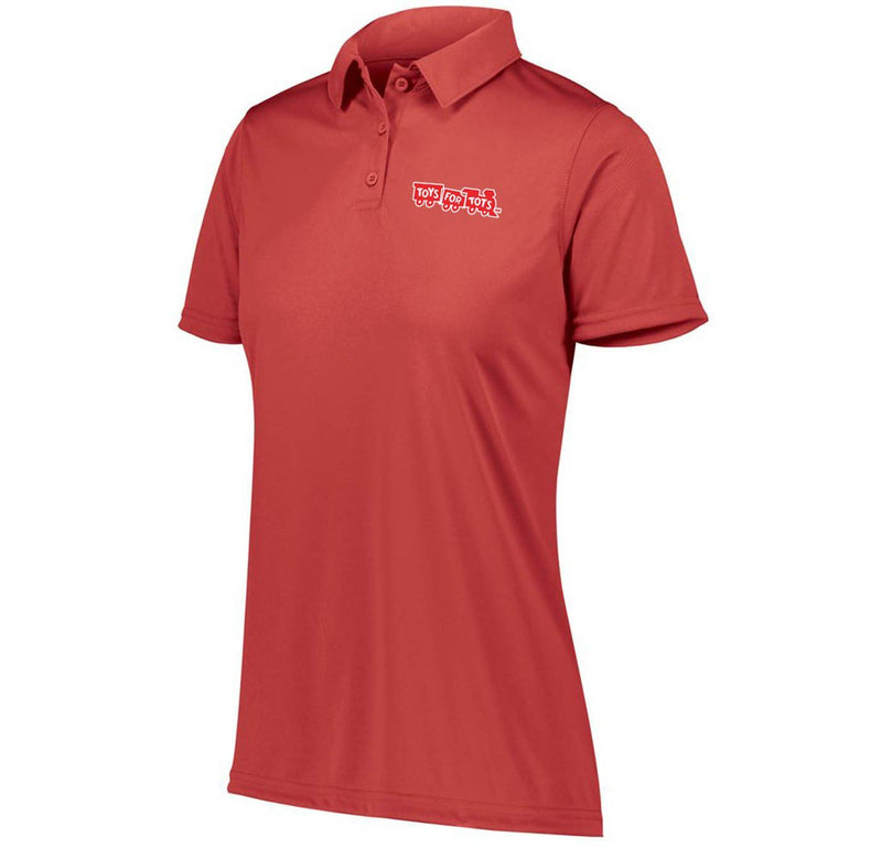 Augusta Dri-Fit Performance Red TFT Chest Seal Screen Print Women's Polo Polo Marine Corps Direct XS RED