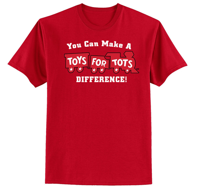 Make a Difference TFT Train Kids T-Shirt TFT Shirt marinecorpsdirecttft S RED