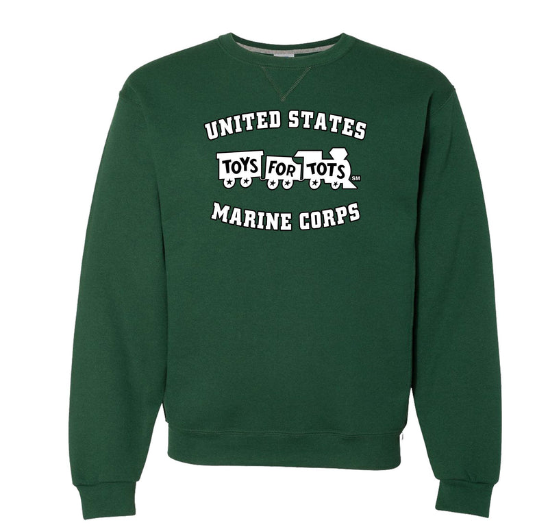 Russell Athletic White/Black TFT Train Dri Power® Crewneck Sweatshirt TFT Sweatshirt/hoodie marinecorpsdirecttft S DARK GREEN
