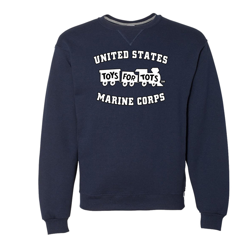 Russell Athletic White/Black TFT Train Dri Power® Crewneck Sweatshirt TFT Sweatshirt/hoodie marinecorpsdirecttft S NAVY