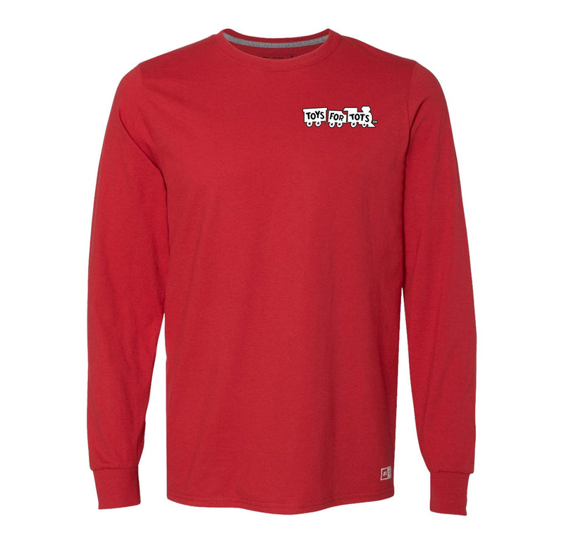 Russell Athletic White/Black Chest Seal Long Sleeve TFT Shirt marinecorpsdirecttft S RED