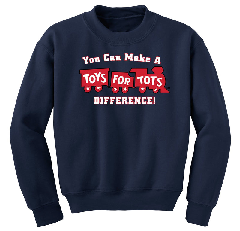 Make a Difference TFT Train Kids Sweatshirt TFT Sweatshirt/hoodie marinecorpsdirecttft S NAVY
