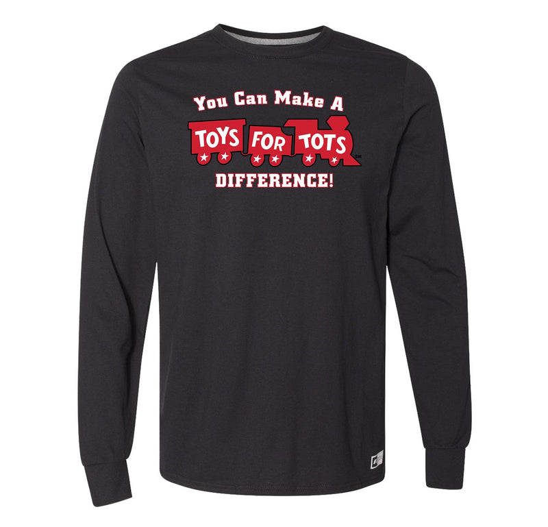 Russell Athletic Make A Difference TFT Train Long Sleeve TFT Shirt marinecorpsdirecttft S BLACK