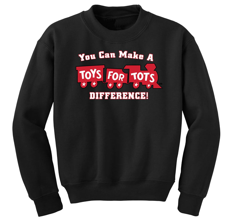 Make a Difference TFT Train Kids Sweatshirt TFT Sweatshirt/hoodie marinecorpsdirecttft S BLACK
