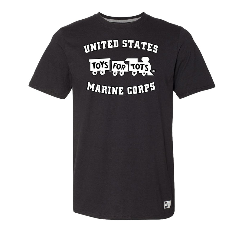 Russell Athletic White/Black TFT Train T-Shirt TFT Shirt marinecorpsdirecttft S BLACK