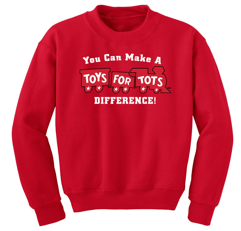 Make a Difference TFT Train Kids Sweatshirt TFT Sweatshirt/hoodie marinecorpsdirecttft S RED