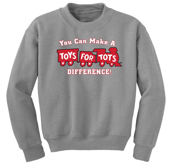 Make a Difference TFT Train Kids Sweatshirt TFT Sweatshirt/hoodie marinecorpsdirecttft S SPORT GRAY