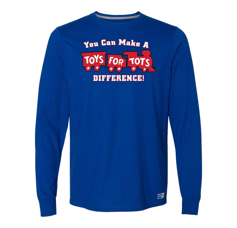 Russell Athletic Make A Difference TFT Train Long Sleeve TFT Shirt marinecorpsdirecttft S ROYAL
