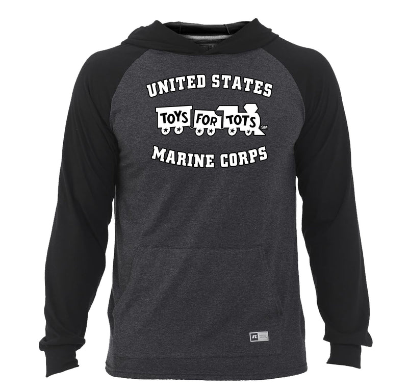 Russell Athletic White/Black TFT Train Essential Hoodie TFT Sweatshirt/hoodie marinecorpsdirecttft S BLACK/HEATHER BLACK