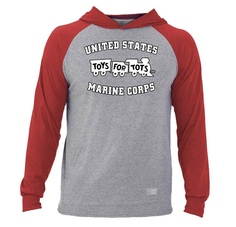 Russell Athletic White/Black TFT Train Essential Hoodie TFT Sweatshirt/hoodie marinecorpsdirecttft S OXFORD/RED