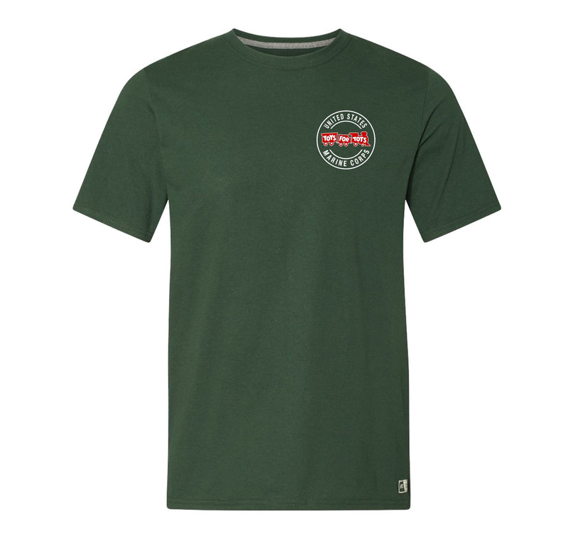 Russell Athletic Circle TFT Train T-Shirt TFT Shirt marinecorpsdirecttft S DARK GREEN