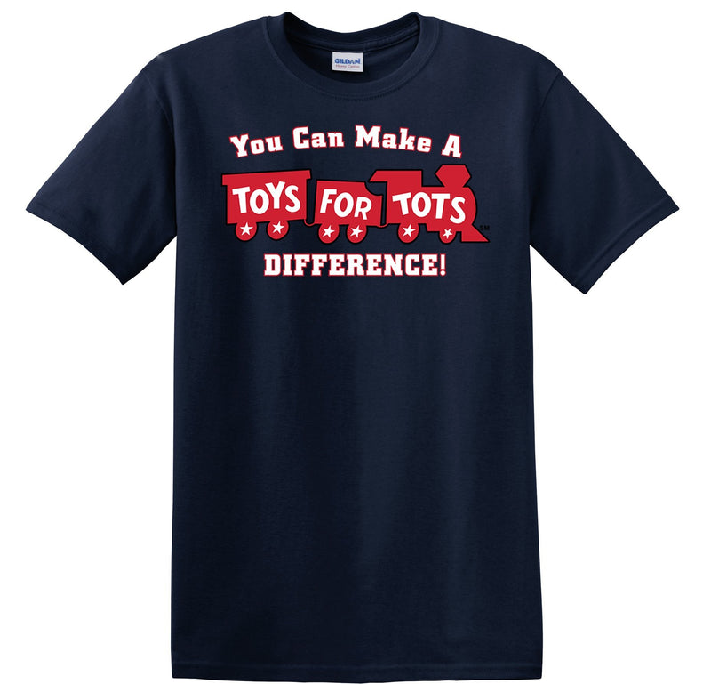 Make a Difference TFT Train Kids T-Shirt TFT Shirt marinecorpsdirecttft S NAVY