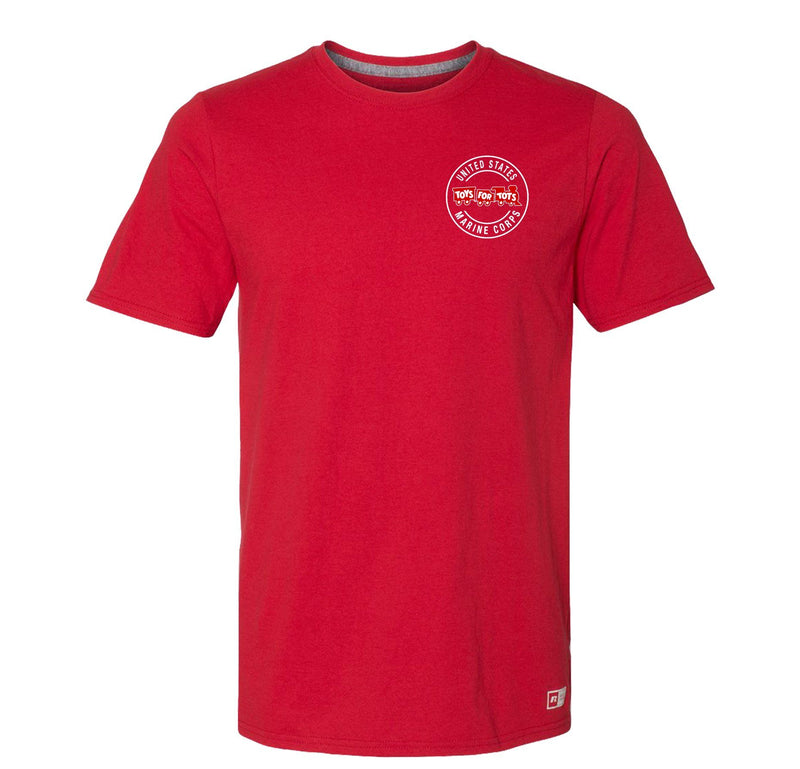 Russell Athletic Circle TFT Train T-Shirt TFT Shirt marinecorpsdirecttft S RED