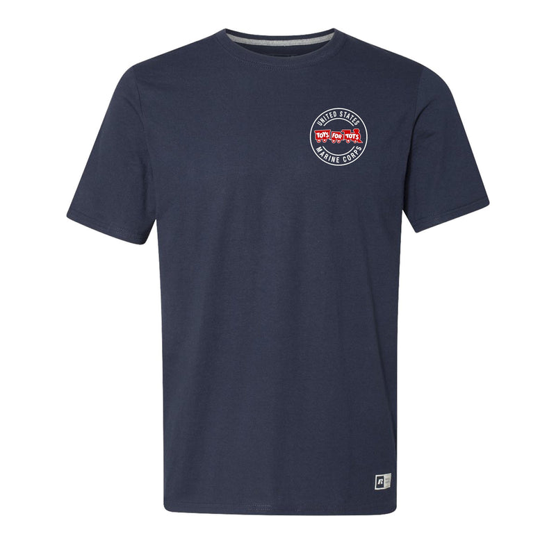 Russell Athletic Circle TFT Train T-Shirt TFT Shirt marinecorpsdirecttft S NAVY
