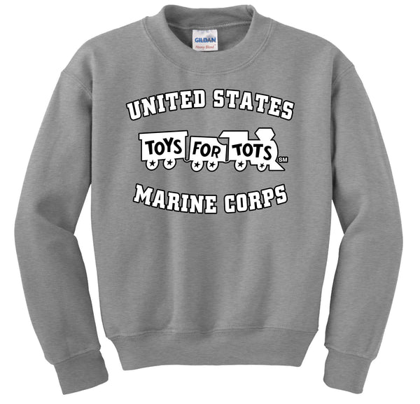 White/Black TFT Train Sweatshirt TFT Sweatshirt/hoodie marinecorpsdirecttft S SPORT GRAY