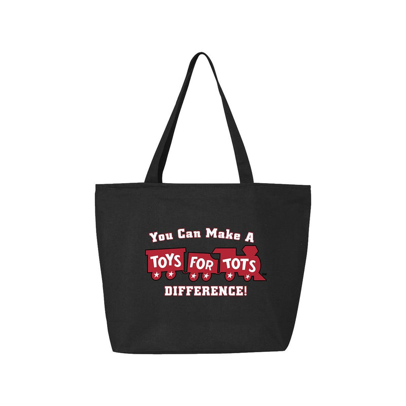 25L Zippered Tote with Red Train TFT MISC marinecorpsdirecttft BLACK