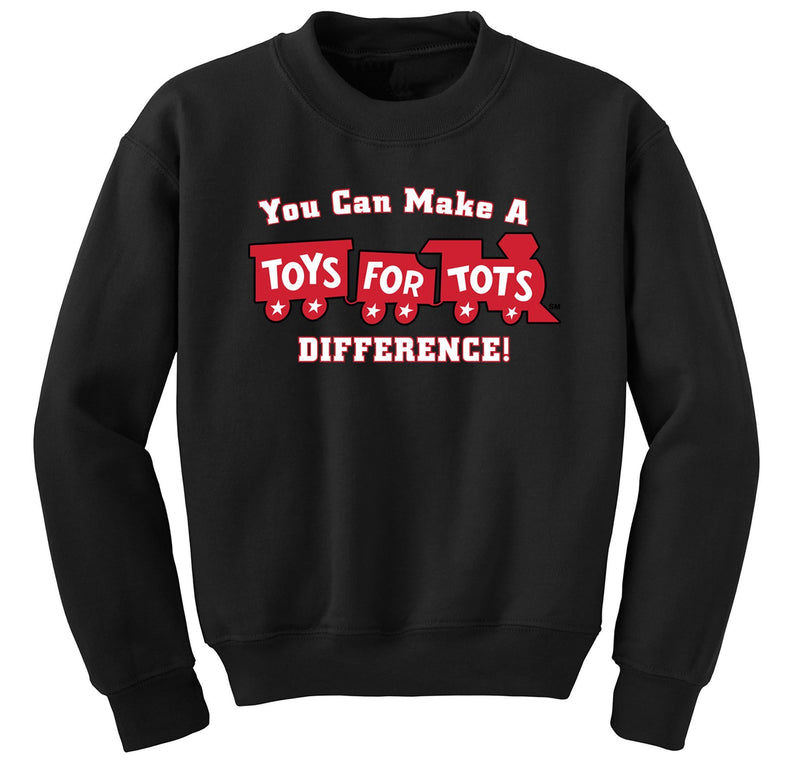 Make a Difference TFT Train Sweatshirt TFT Sweatshirt/hoodie marinecorpsdirecttft S BLACK