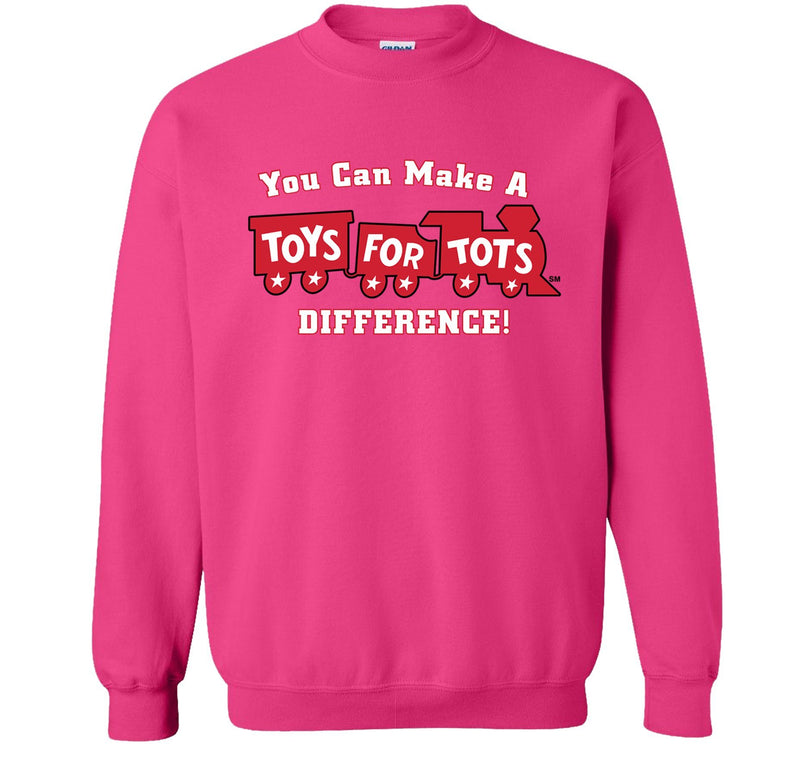Make a Difference TFT Train Sweatshirt TFT Sweatshirt/hoodie marinecorpsdirecttft S PINK