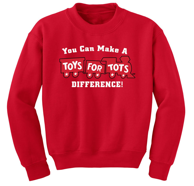 Make a Difference TFT Train Sweatshirt TFT Sweatshirt/hoodie marinecorpsdirecttft S RED