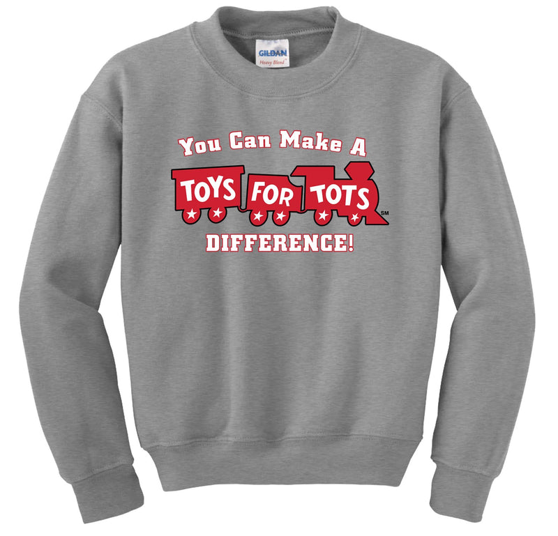 Make a Difference TFT Train Sweatshirt TFT Sweatshirt/hoodie marinecorpsdirecttft S SPORT GRAY