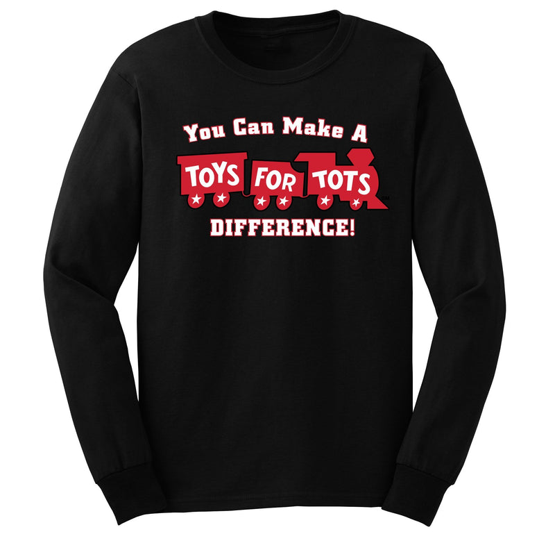 Make a Difference TFT Train Long Sleeve TFT Shirt marinecorpsdirecttft S BLACK