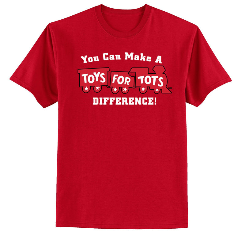 Make a Difference TFT Train T-Shirt TFT Shirt marinecorpsdirecttft S RED