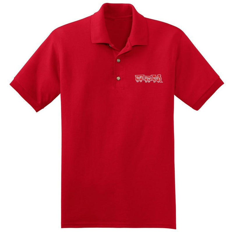 Red TFT Train Embroidered Polo Polo Marine Corps Direct S RED