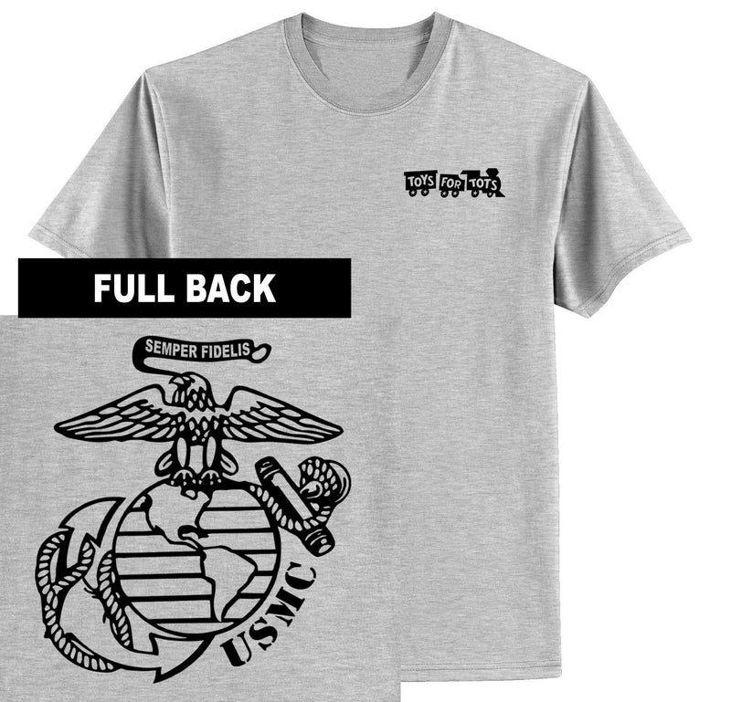 """Pick Your Design"" TFT Front & Back T-Shirt TFT Shirt Marine Corps Direct BIG EGA SPORT GRAY S"