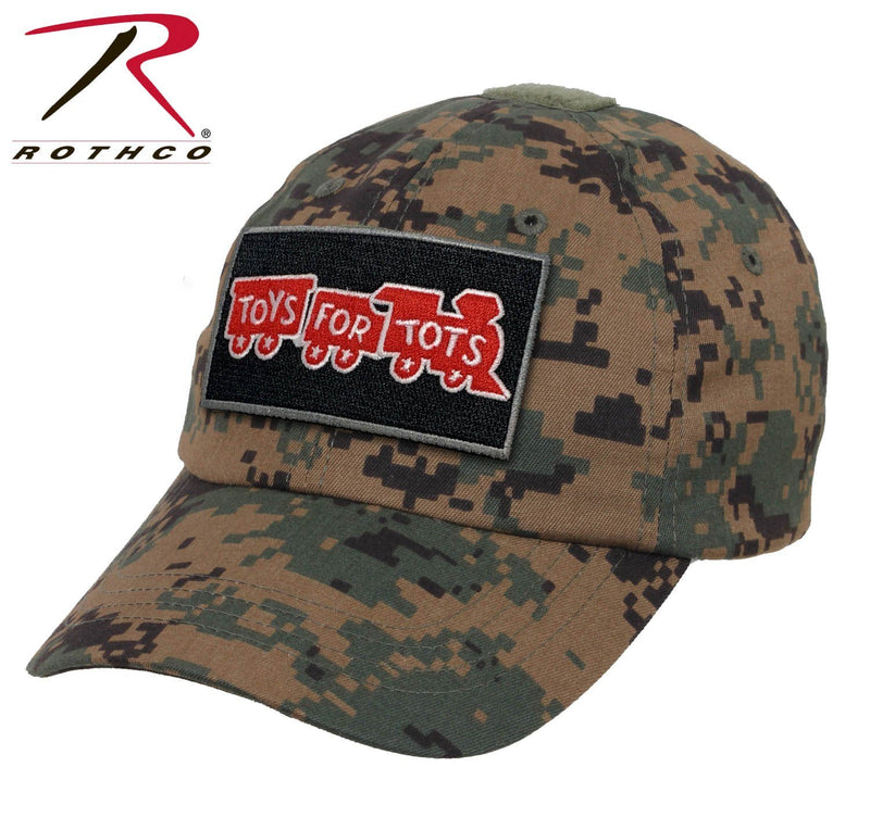 Woodland Digi Rothco Tactical Operator Cap W/ TFT Patch marinecorpsdirecttft
