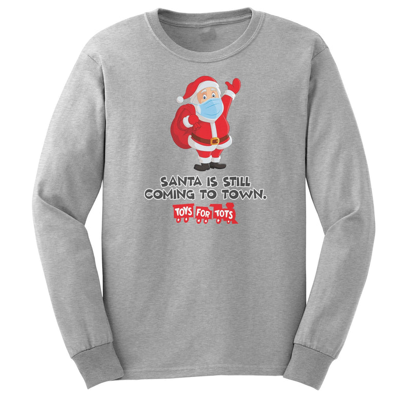 TFT Santa Is Still Coming to Town Long Sleeved Tee TFT Shirt marinecorpsdirecttft S ASH