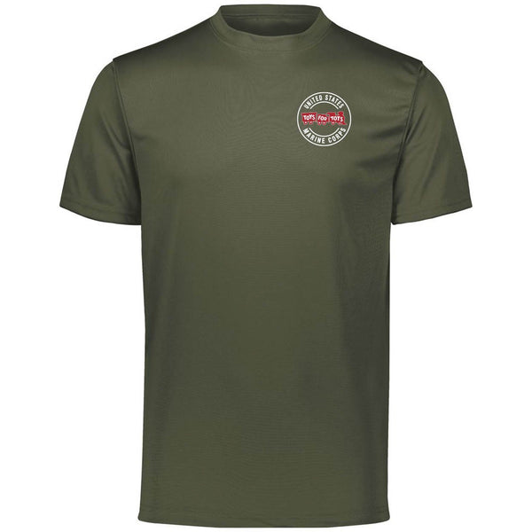Augusta Dri-Fit Performance Circle TFT Chest Seal T-Shirt TFT Shirt Marine Corps Direct S MILITARY GREEN