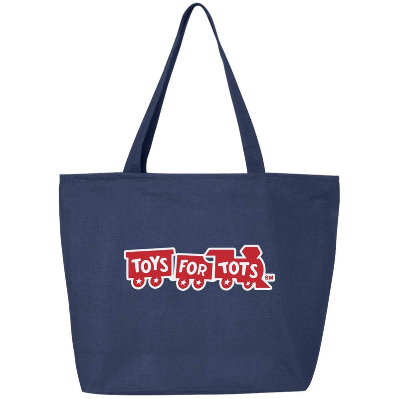 Navy 25L Zippered Tote with Red Train TFT MISC marinecorpsdirecttft